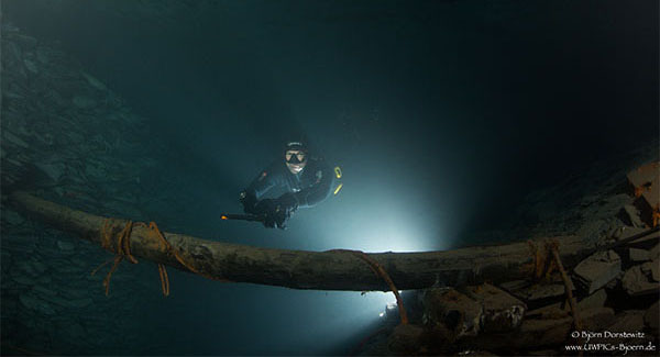 1. Cave Freediving Event im Bergwerk Nuttlar