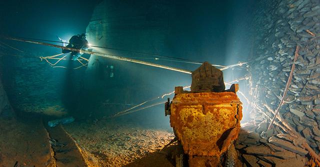 Höhlentauchen im größten betauchbaren Bergwerk Europas
