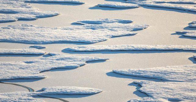 Arktisches Meereis: Negativrekord im Februar