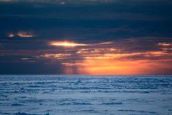 Abendlichtstimmung in der zentralen Arktis